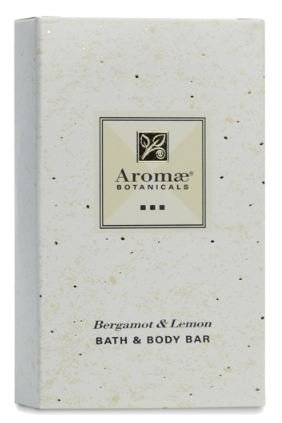 Aromae, 1.5 ounce Bergamot and Lemon Body Soap (Bar), Individually Packaged in Paper/Cardboard Carton, 200 Bars per Case by Aromae