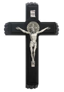 Saint Benedict Sick Call Black 12 Inch Crucifix