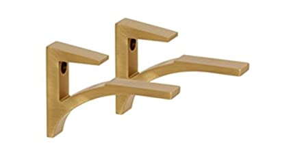 Genial Image Unavailable. Image Not Available For. Color: Brushed Brass Aluminum Shelf  Brackets