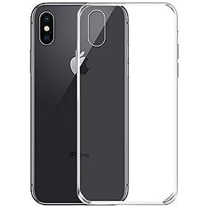 NEW'C Coque Compatible avec iPhone X et iPhone XS, Ultra Transparente Silicone en Gel TPU Souple Coque de Protection…