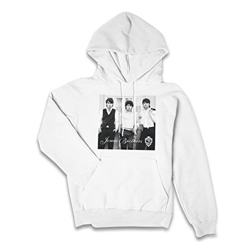 (OfcTTHlinW Women Jonas Brothers Particular Hoodie White L)