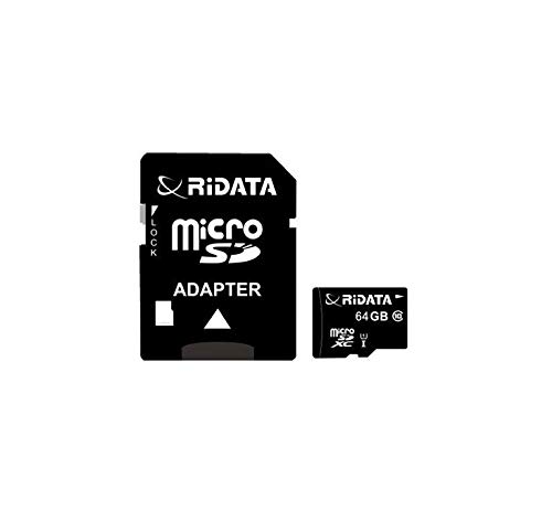 RiDATA 64GB MicroSDCX Class 10 Card 66X High Speed Lossless Recording with Standard SD Adapter for GoPro HERO4 and Android Compatible Phones
