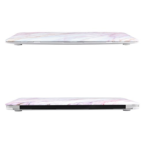 iDOO Soft Touch Hard Plastic Matte Case for MacBook Air 13 inch Model A1369 and A1466 - Pink Marble by iDOO (Image #4)