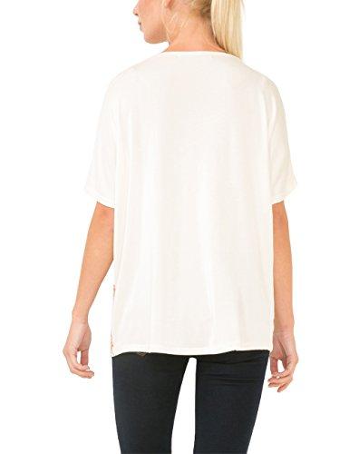 para camiseta nudo mujer manga Mediano de Amazon y Ropa 12 es crudo Beige Valkiria accesorios Shiny fabricante corta 1024 Ts Desigual Tamaño p05wtt