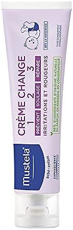 Creme de Assadura Vitaminado Preventivo 123 sem Perfume e Conservantes 100 ml, Mustela Bebê, Azul, Médio/110 g