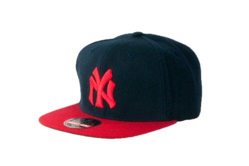 MLB Men's New York Yankees Cooperstown 400 Snapback Cap (Navy/Red, Adjustable)