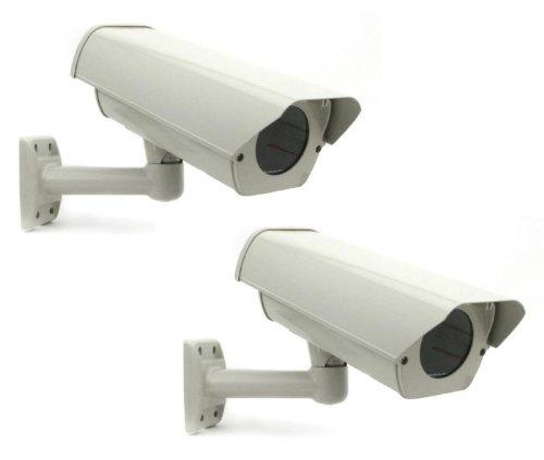 Fan Camera Housing - Smart Security Club Pack of 2 Outdoor Camera Housing, Heater & Fan, Mounting Bracket