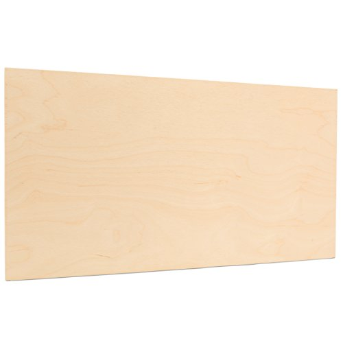 6mm 1/4 x 12 x 24 Inch Premium Baltic Birch Plywood, Box of 12 B/BB Birch Veneer Sheets, Perfect for Laser CNC Cutting and Wood Burning Projects. by Woodpeckers
