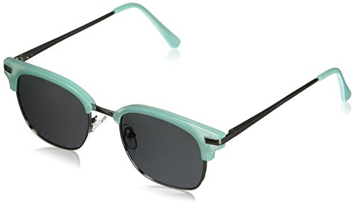Peepers Women's Water Color Sun-Turquoise Polarized Square Sunglasses, Silver, 51 ()