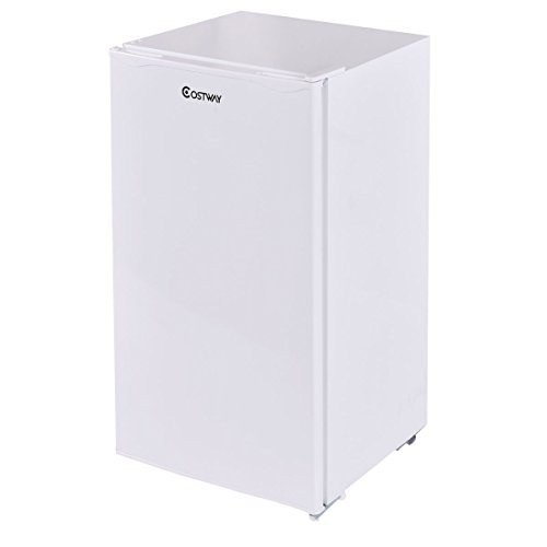 Giantex 3.2 Cu. Ft. Compact Single Reversible Door Mini Refrigerator and Freezer Office