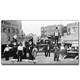 Vintage Black and White Photograph Open Day Or Night Metal Sign