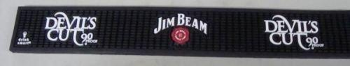 Jim Beam Bar - JIM BEAM DEVIL'S CUT RUBBER BAR RUNNER DRIP SPILL MAT