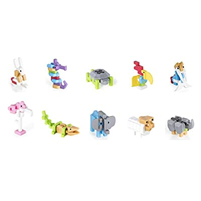 Guidecraft Building Blocks Animal Pack Party Favors ( 10 Pack ) Seahorse, Elephant, Crocodile, Walrus, Rhino, Tortoise, Toucan, Rabbit, Sheep, and Flamingo Cake Toppers: Toys & Games