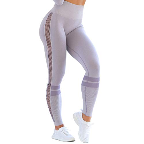 FONMA Women Seamless Solid Yoga Sports Tight Pants Hips High Waist Thread Yoga Pants ()