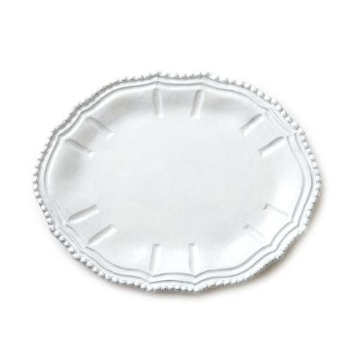 Vietri INC-1124C Incanto Baroque Small Oval Platter, White