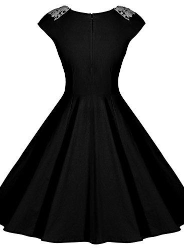 1de701964ce8 Miusol Women's Vintage Audrey Hepburn Style 1940's Rockabilly Evening Dress