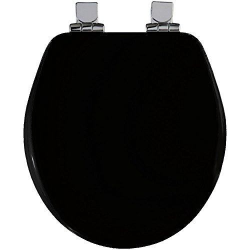 Bemis 30CHSL 047 Black Round, Molded Wood Toilet Seat delicate