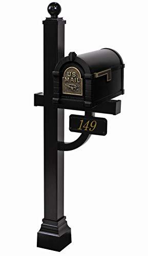 Gaines - Eagle Keystone Series Custom Mailbox Set (Black/Antique Bronze) ()