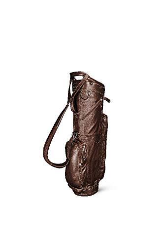 Sun Mountain 2019 Golf Leather Cart Bag - Brown-Khaki