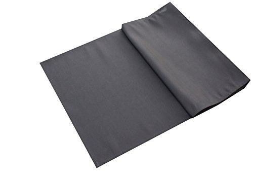 Tischläufer Uni Damast, einfarbig , grau 40x140cm , schön zum dekorieren
