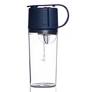 Umoro V3: The 3 in 1 BPA-Free Protein Shaker + Water Bottle and Convenient 50cc Top-End Storage Compartment for Protein Powder + Supplements with 100% Leak Proof Design, 20oz - Moon Blue