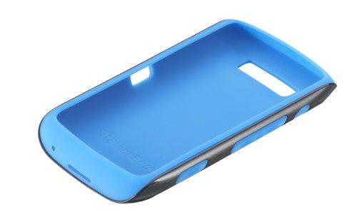 Blackberry Premium Skin for Torch 9850/9860 - Black/Sky Blue Accent (Skin Blackberry Torch)