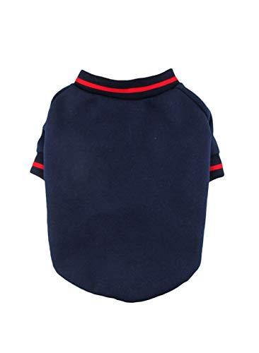 Navy 80Cotton/20Polyester Sweatshirt Fleece Dog Sweatshirt, Dog Top, Dog Clothing, Dog Apparel, Dog fashion, Made in USA