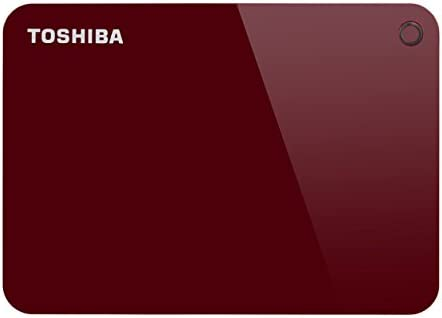 Toshiba HDTC920ER3AA Canvio Advance Tragbare Externe Festplatte USB 3.0, 2TB rot