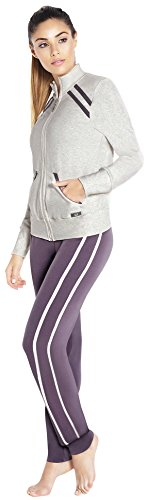 Adriana Arango 3 Piece Women's Gym Outfit Long Sleeve Jacket Top Pants D217- S (3 Piece Jacket)
