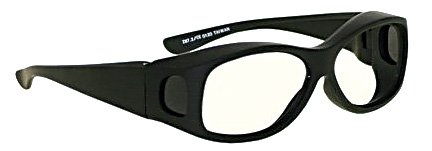 X-Ray Radiation Protection Glasses, Cover-Guard, 0.75mm Pb Equivalency Lens, White by Colortrieve