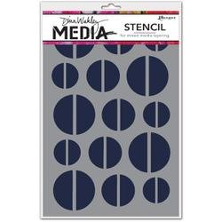 Bulk Buy: Ranger Inks (2-Pack) Dina Wakley Media Stencils 6in. x 9in. Halves MDS-45564 by Ranger Products
