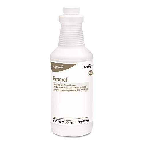 - Diversey Care 94995295 Emerel Multi-Surface Creme Cleanser, Fresh Scent, 32oz Bottle, 12/carton