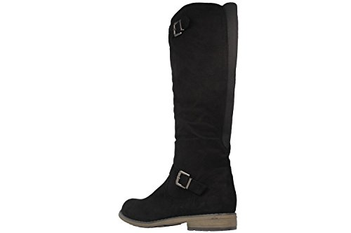 FITTERS FOOTWEAR - Vanessa - Damen Stiefel - Schwarz Schuhe in Übergrößen