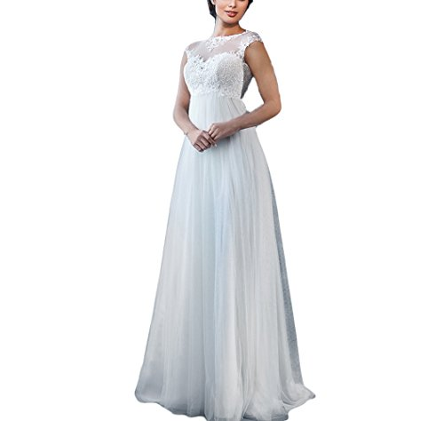 Kmbridal Women's Maternity Wedding Dresses for Bride 2019 Plus Size Lace Wedding Gowns