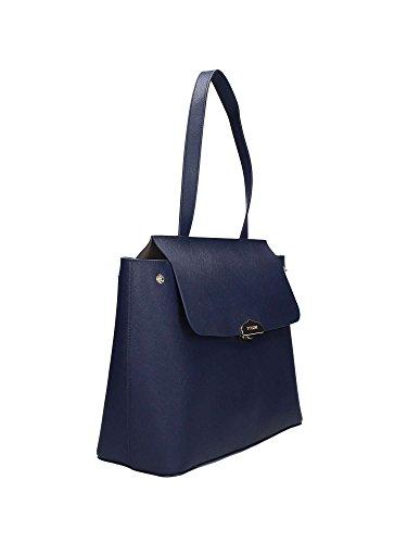 Shopping bag in pelle saffiano sfoderata, con pochette staccabile, Twin-set Simona Barbieri