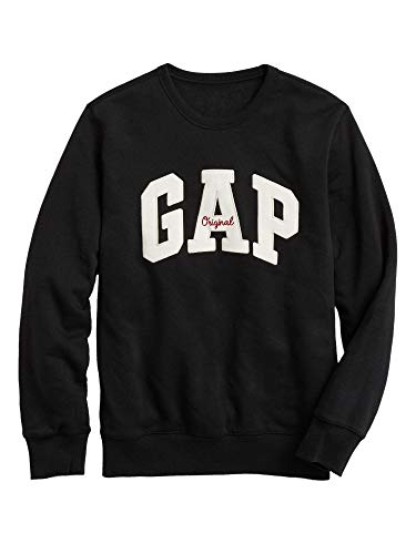 GAP Mens Embroidered Arch Logo Crewneck Moonless Night Pullover T-Shirt (L) from GAP