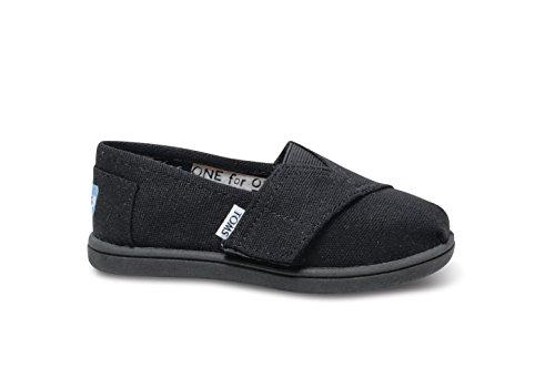TOMS Unisex Alpargata Slip on Sneakers (Infant/Toddler/Big Kid), Black, 8 M US -