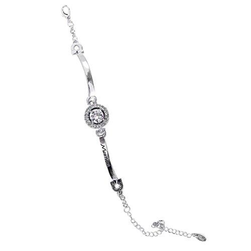 YJYdada Women Zircon Sparkling Crystal Alloy Bangle Bracelet Jewelry Wedding (A) - Bell Sterling Silver Turquoise Ring