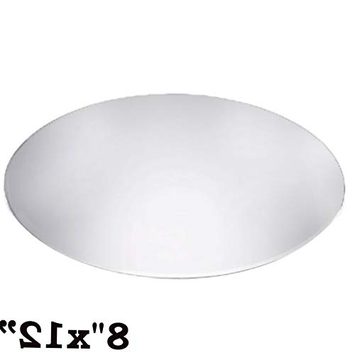 Mikash 12 Wide Oval Mirrors Party Wedding Centerpieces Wall Table Decorating Mirror | Model WDDNGDCRTN - 1025 | 16 pcs