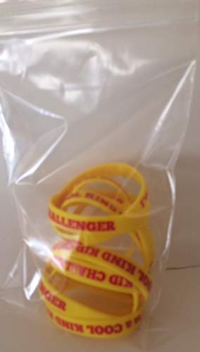 Challenger Band - Cool Kind Kid Challenger Wrist Bands-Pack of 10