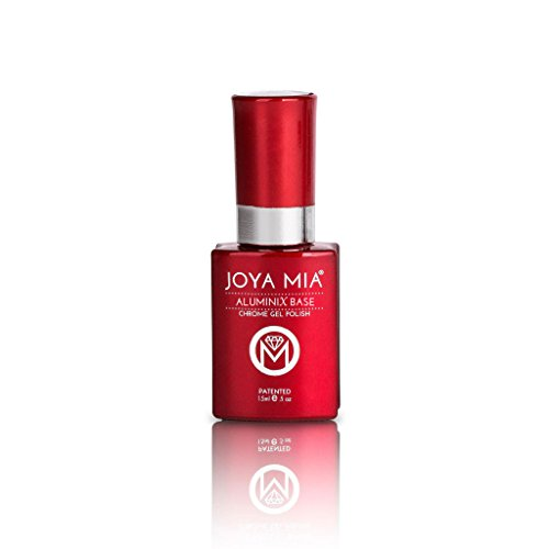 Joya Mia Aluminix Chrome Gel Nail Polish Silver Base Long La
