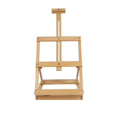 JIANPING Easel Balanced Desktop Folding Child Mini Easel Easy to Carry and Can Be Used in The Field 35X30.3X50cm Wood Color Easel