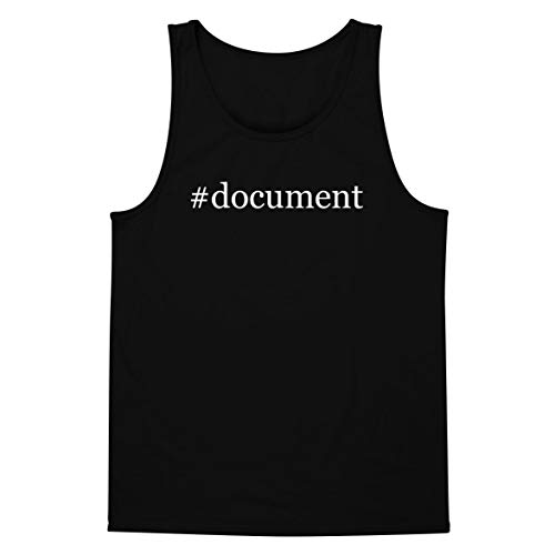 - The Town Butler #Document - A Soft & Comfortable Hashtag Men's Tank Top, Black, XX-Large