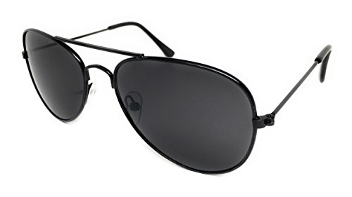 WebDeals - Little Children's Kids Classic Aviator Sunglasses Metal Frame Ages 2 to 5 (Black, - Black Glasses Aviator