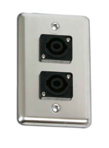 Elite Core OSP D-2-SPEAKON Duplex Wall Plate with 2-Speakons Switchplates Accessory