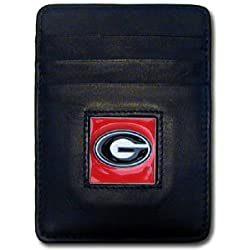 NCAA Georgia Bulldogs Leather Money Clip/Cardholder