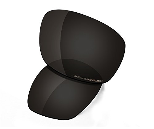 Saucer Premium Replacement Lenses & Rubber Kits for Oakley Ten X Sunglasses High Defense - Carbon Black Polarized by Saucer