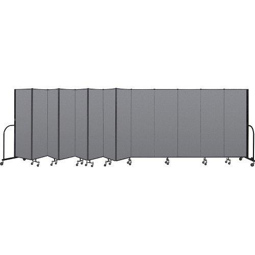 Standing Screenflex Free Panels 13 - Interlocking Mobile Partitions, 13 Panels, 24'1