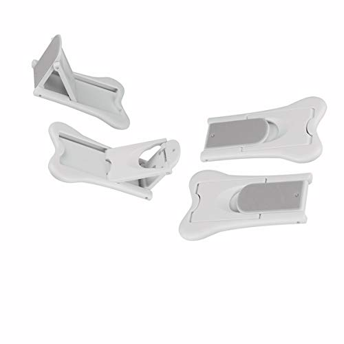 Sliding Door Lock, QYUKUYU Baby Safety Childproof Locks for Closets, Window,Doors, Shutters & More, No Tools Needed (4 Pack, White) by QYUKUYU (Image #5)