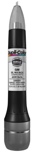 Dupli-Color AGM0434 Olympic White General Motors Exact-Match Scratch Fix All-in-1 Touch-Up Paint - 0.5 (White Motor)